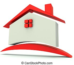 House red roof image logo - House red roof illustration...