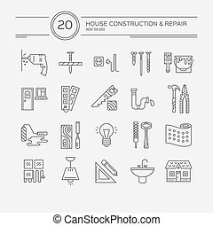 House Remodel Icons - Vector collection of house repair...