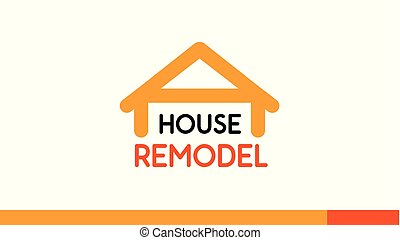 House Remodel Logo Design template on white - House Remodel...