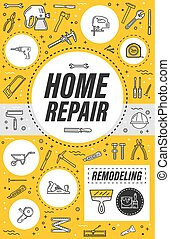 House remodeling service, home repair tools