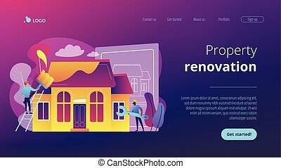 House renovation concept landing page.