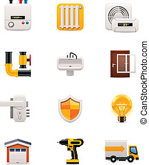 House renovation icon set. Part 2