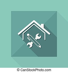 House renovation - Vector web icon