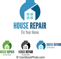 House repair company logo template.
