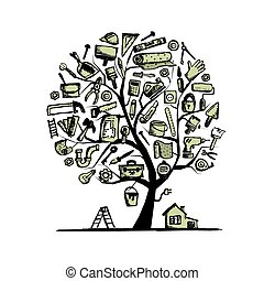 House repair, concept tree for your design