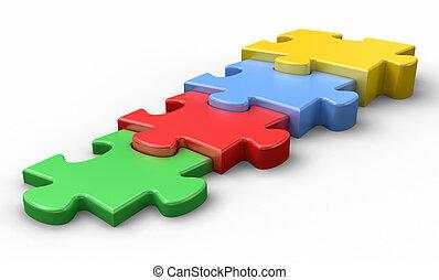 Jigsaw puzzle concept.