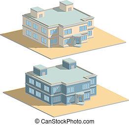 House revolving door isometric