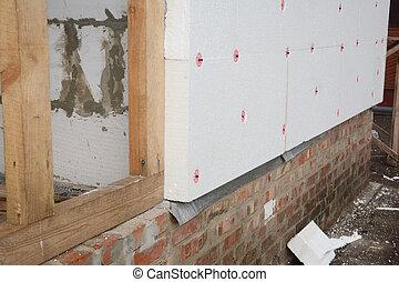 House rigid styrofoam insulation for energy saving