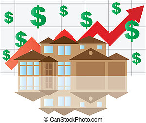 House Rising Value Graph - Home Value Rising Chart with...