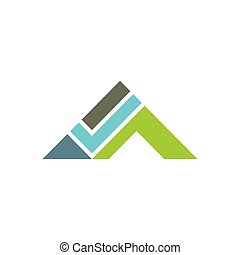 House Roof check icon for real estate Logo design