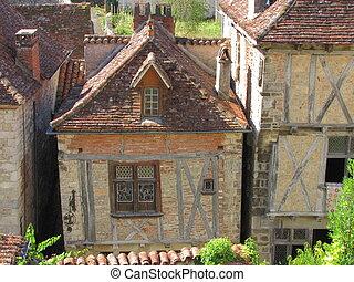 House, roof, Lapopie