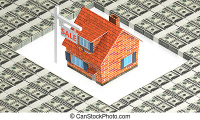 house sale - part of isometric collections of animated...