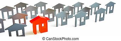 House sale real estate concept 3d rendering