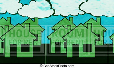 House Sale Rent Looping Animated Background