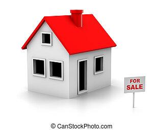 House sale - 3d house notice for sale