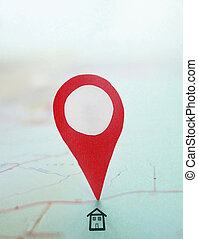 House search and red map locator