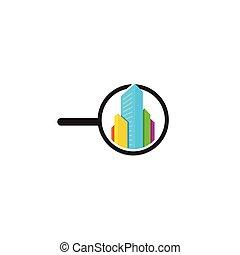 House Search logo, Real Estate icon
