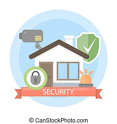 House security illustration.