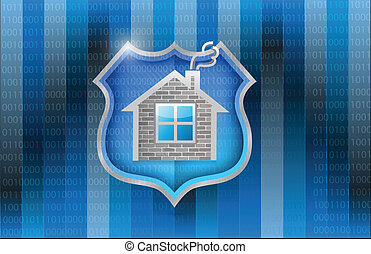 house security shield illustration