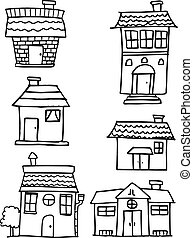 House set collection hand draw