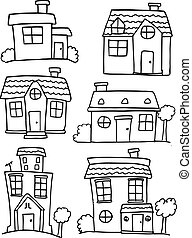 House set hand draw various