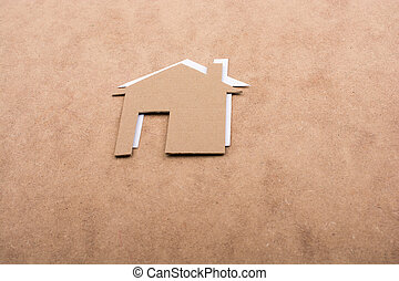 House shape cut out of paper