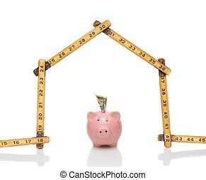 House Shape Ruler Piggy Bank