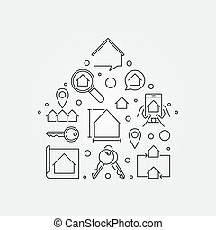 House shape - vector Real Estate illustration