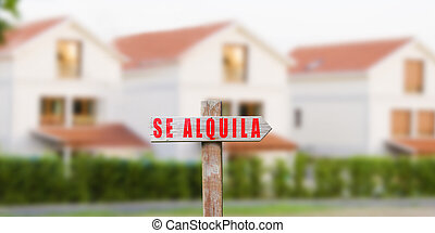 house sign for rent