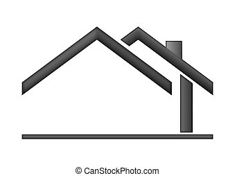 House sign logo - The house roof as a logo - Illustration...