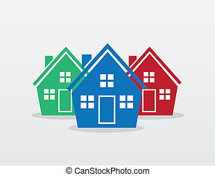 House Silhouette Group Colors
