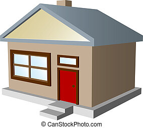house silhouette - Vector coloured house