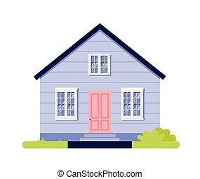 House simple cartoon icon isolated vector illustration