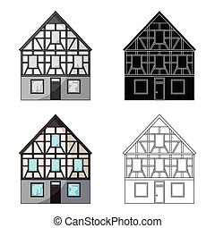 House single icon in cartoon style.House vector symbol stock illustration web.