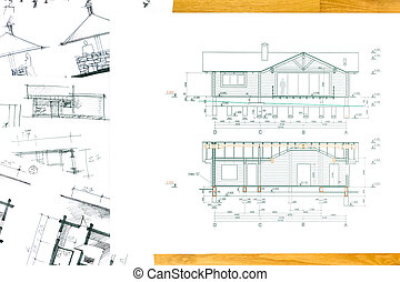 Outline sketch of house with blueprints house sketch with house sketch with blueprint malvernweather Image collections