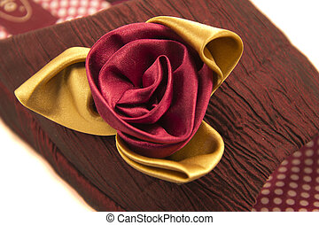 House slippers - Claret house slippers with a rose on a ...