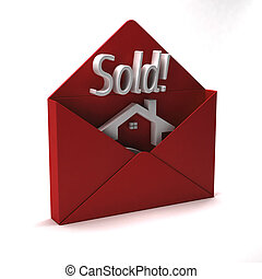 House sold logo - House sold