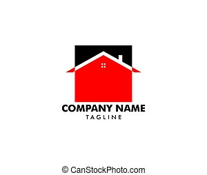 House Square Logo Template Vector Illustration Design