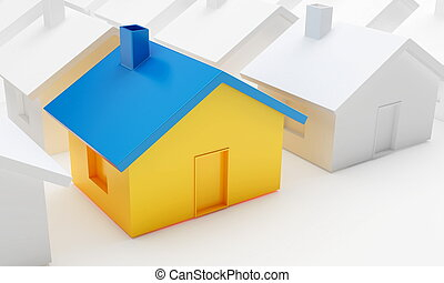 house on a white background