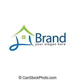 House stock logo vector. Abstract house logo - Colorful house. logo vector illustration