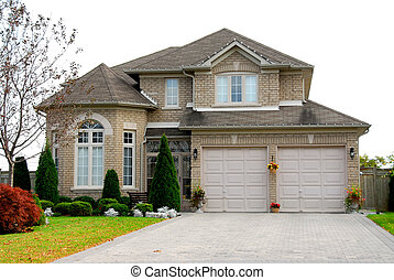 House - New detached single family luxury home with brick...