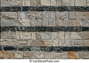 House stonewall closeup