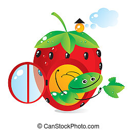 house-strawberry - Small house-strawberry for a cheerful...