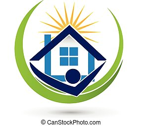 House sun agent Real Estate logo - House sun agent Real ...