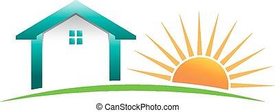House sun in horizon