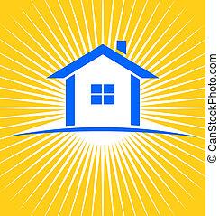 House sunburst for real estate