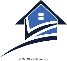 House swoosh with check mark