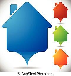 House Symbol Map Pins House Symbol Map Pins - Eps 10 Vector...