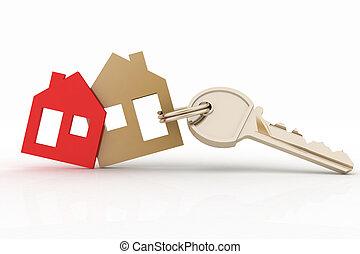 house symbol set and key