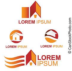 house symbol set